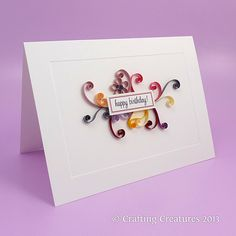 Quilling birthday card 2
