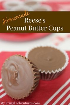Easy Homemade Reese's Peanut Butter Cups Recipe- customize this exactly to your tastes in just minutes. Dark chocolate, milk chocolate, white chocolate-- these are heavenly! Quick and easy homemade peanut butter cups Homemade Peanut Butter Cups, Peanut Butter Recipes, Homemade Candies, Homemade Reeses Cups, Resses Peanut Butter Cups, Homemade Chocolates, Homemade Truffles, Reeses Cups Recipe, Homemade Candy Recipes