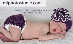 Beanie Hat and Diaper cover Newborn Photo prop in by Newbabyphoto