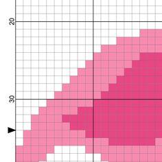 Pink Flamingo PDF Cross Stitch Pattern di DailyCrossStitch su Etsy
