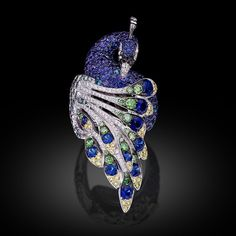 """Emperor in world and appearance"", once again portrayed by Carlo Palmiero in this unique and equally elegant ring belongs to the Peacock Collection launched during #baselworld2015.  #palmiero #ring #jewellery #luxury #limitededition #f4f #peacock #design #art #jewelry #madeinitaly #diamonds #sapphires #preciousstones #jewel #finejewel #instagood"