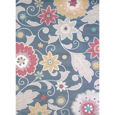 This stylish Structures Mixed Floral Area Rug has a unique multi-yarn texture that combines both polyester and olefin. This construction creates outstanding design definition as well as a great feel w