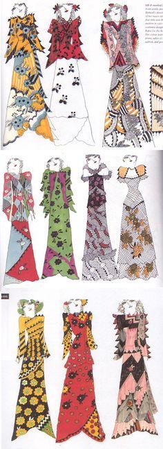 Celia Birtwell, fashion illustrations