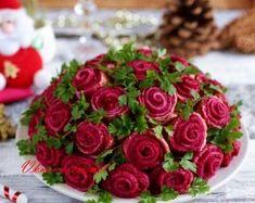 Салат розы, рецепт с фото