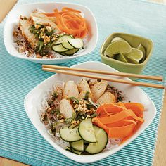 Thai Chicken Noodle Bowls from #CookingLight #healthy #light #recipe