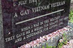 Grave of a gay Vietnam war veteran