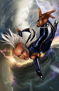 Storm X-men Greg Horn Marvel Tornado Thunder Lightning Marvel Comics, Heros Comics, Marvel E Dc, Marvel Girls, Marvel Women, Marvel Females, Captain Marvel, Captain America, Comic Book Characters