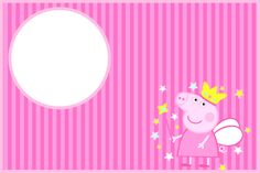 Imprimibles Gratuitos e Invitaciones de Peppa Pig Hada.