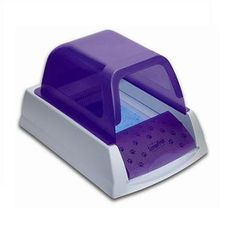 ScoopFree Ultra Automatic Self-Cleaning Litter Box- WANT AND NEED THIS!!! Plus it's purple! :)
