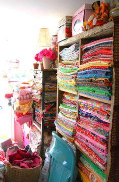 gorgeous fabric stash