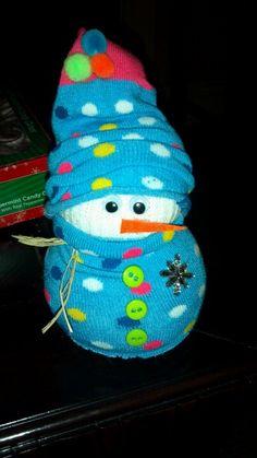 Super cute sock snowman
