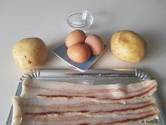 Pincho de huevo frito con patatas y bacon   Cocina Huevos Fritos, Canapes, Empanadas, Gourmet Recipes, Dips, Appetizers, Breakfast, Food, Savory Snacks