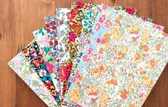 Liberty of london Adhesive fabric flower - no.1(9Type),90x140mm
