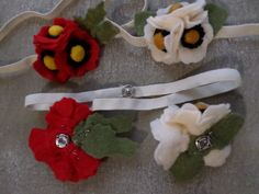 Magical Poppy Snap ecofriendly felt by LavenderLeafDesigns on Etsy