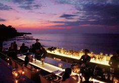 night in Rock bar pecatu bali