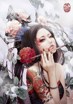 modern geisha painting - Google Search