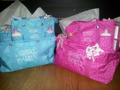 Great baby shower gifts from Thirty-One. Large utility tote, organizing Utility tote and littles caddy