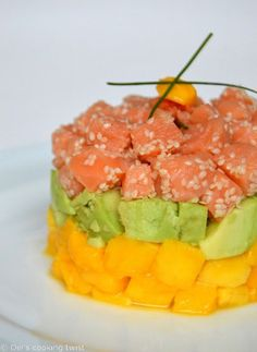 Salmon Tartare with Avocado and Mango