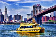 NYC water taxi in action.