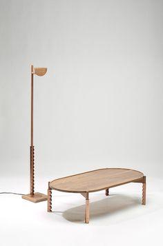 Choi Joon Woo Upgrades Furniture With Traditional Korean Tiles on Home Inteior Ideas 3497 Dark Wood Furniture, Oak Furniture Land, Table Furniture, Cool Furniture, Outdoor Furniture Sets, Furniture Design, Traditional Furniture, Furniture Collection, Immobile