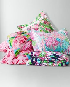 NEW Monogram pillow made with LILLY PULITZER Sippin and Trippin by Garnet Hill