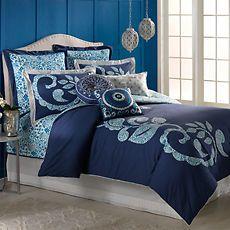 cobalt+blue+household | DENA-Home-INDIGO-IKAT-Cobalt-Blue-White-FULL-QUEEN-90-x-96-DUVET-COVER ...