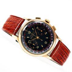 Top! Dubey & Shaldenbrand [Swiss] Vintage Chronograph RG Watch - Valjoux Cal. 92
