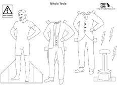 Tesla Paper Doll | Mad Art Lab