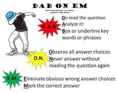 'Dab On Em' Test-Taking Strategies Anchor Chart! The dance craze made famous by the Carolina Panther's Cam Newton! Created by Longview High School Biology teachers Monica Scott-Hawkins and Kimberly Hatten. (THIS IS THE ORIGINAL POSTER)Test taking- tip Test Taking Skills, Test Taking Strategies, Reading Strategies, Reading Comprehension, Comprehension Questions, High School Biology, Biology Teacher, Biology Classroom, Ap Biology