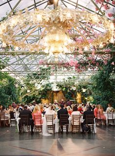 Salt Lake City Greenhouse Wedding   Read more - http://www.stylemepretty.com/2014/01/30/salt-lake-city-greenhouse-wedding/