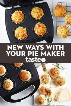 Who loves pie makers? We love pie makers! This versatile appliance is a total lifesaver when you need to cook something in a flash. Forget pies, it's all about muffins, frittatas, cakes, sausage rolls and dumplings. Mini Pie Recipes, Cooking Recipes, Savoury Biscuits, Sausage Rolls, Mini Pies, Weird Food, Biscuit Recipe, Baking Snacks, Food To Make