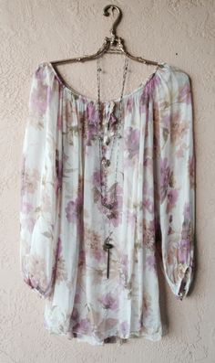silk floral tunic for summer days