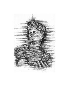 Ancient, Drawings, Image, Julius Caesar, Art, Original Drawing, Humanoid Sketch, Downloadable Print, Prints