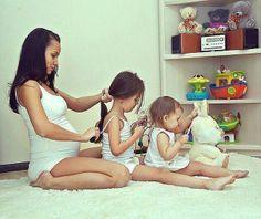 Foto que quiero hacer con mis hijas algún día, está hermosa! (Obvio sin lo de estar embarazada!)