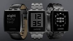"CNET calls the Pebble Steel ""the first smartwatch worth wearing""  2014 tech trends, hottest tech devices, Nest Protect, Nest Thermostat, Pebble Smart Watch, Seiki, Sensoria Smart Socks, tech in 2014, UHD TV, uhdtv, wearable tech"