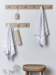 Oak Peg Rail Small Storage Shelves, Hallway Shoe Storage, Hanging Storage, Metal Shelves, Bathroom Storage, Storage Baskets, Storage Ideas, Towel Storage, Storage Units
