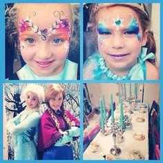 Frozen face painting Frozen Party, Frozen Birthday, Girl Birthday, Frozen Face Paint, Diy Face Paint, Face Painting Designs, Butterfly Flowers, Grimm, Mask Design