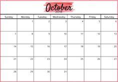 blank october 2018 calendar schedule calendar 2018 design 2018 calendar excel office calendar