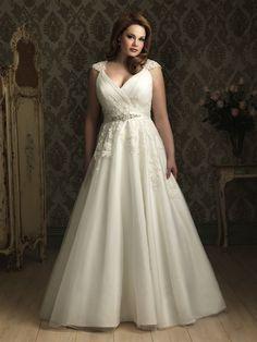 Top 10 Plus Size Wedding Dress Designers By Pretty Pear Bride #plussize #bride   Gown by Allure