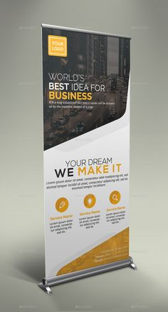 Buy Corporate Roll Up Banner Bundle by GeniusPoint on GraphicRiver. Features: Easy Customizable and Editable Size in with bleed CMYK Color Design in 150 DPI Resolution P. Banner Sample, Banner Template, Flyer Template, Pull Up Banner Design, Standing Banner Design, Company Brochure, Brochure Design, Branding Design, Rollup Banner