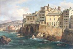 Luigi Garibbo (1872-1869) // Genova. Veduta delle mura di San Giacomo della Marina, prima metà del XIX sec., olio su tela