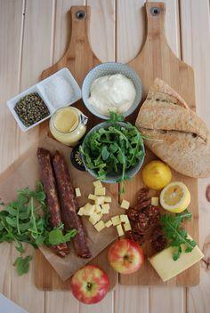 Ingredients for chorizo salad - all good yummy things! #langdalefarm #chorizo