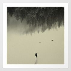 Buy Silent walk Art Print by Andreas Lie. Worldwide shipping available at Society6.com. Just one of millions of high quality products available.