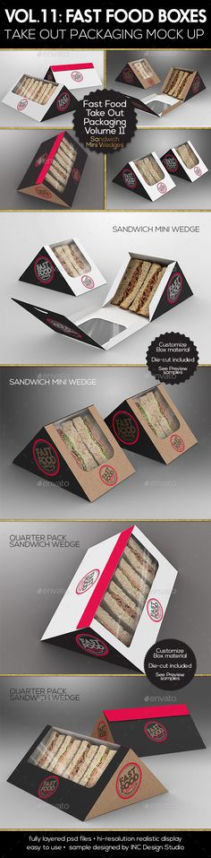 Fast Food Boxes Vol.11:Take Out Packaging #Mock Ups - Food and Drink #Packaging Download here: https://graphicriver.net/item/fast-food-boxes-vol11take-out-packaging-mock-ups/19477442?ref=alena994