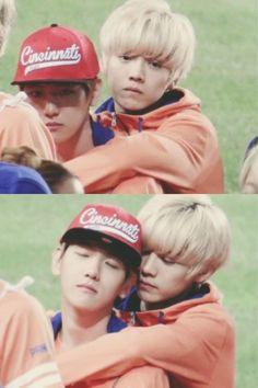 baekhyun and luhan #kpop #exo #baekhyun #luhan #cute
