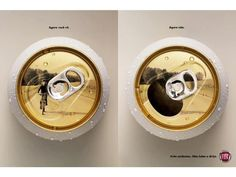"""New drunk driving campaign ad from Fiat.  Genius.  """"now you see it, now you don't"""" tag."""