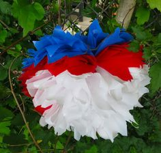 DIY Waterproof Pom-Poms for Outdoor Events (she: Trish) - Or so she says...