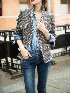Shop Silver Long Sleeve Sequined Jacket online. SheIn offers Silver Long Sleeve Sequined Jacket & more to fit your fashionable needs.