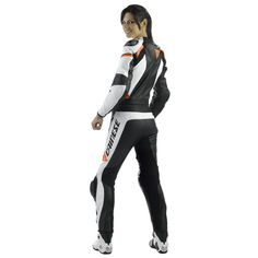 Women's leather racing suit. Dainese Avro 2 Piece Lady Leather Suit