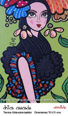 Beautiful, distinctive work by Panamanian artist Rolo De Sedas that's seen all over Panama City.